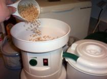 grinding wheat