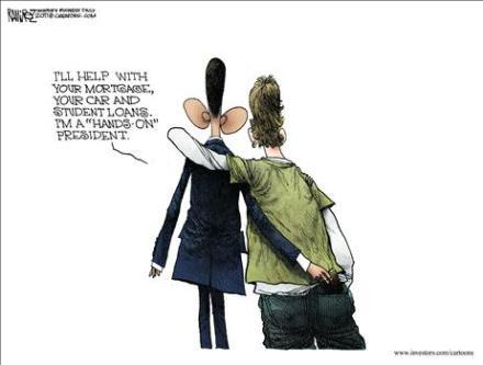 Hands on President