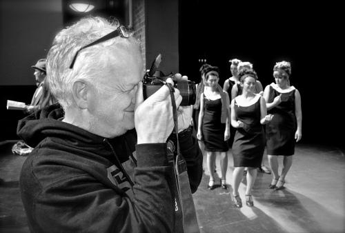 Paul taking photos at the shoot