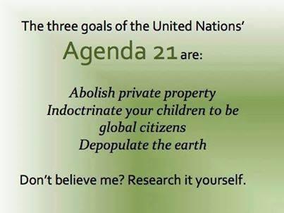Agenda 21 three goals