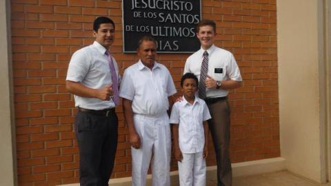 Jeffrey at a baptism