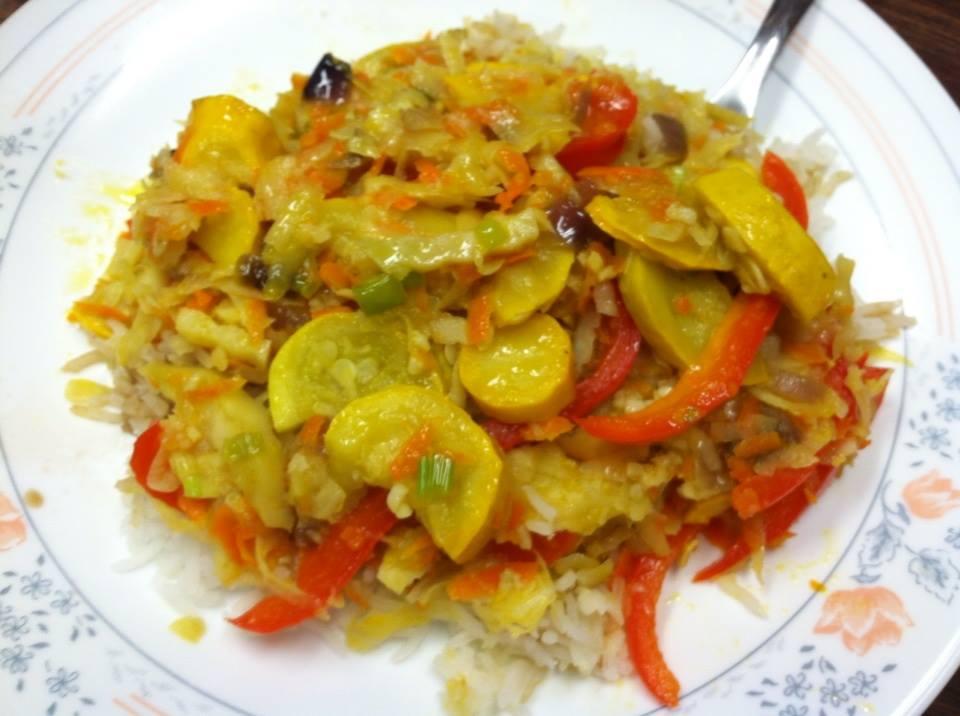 Yellow Squash Basmati Delight