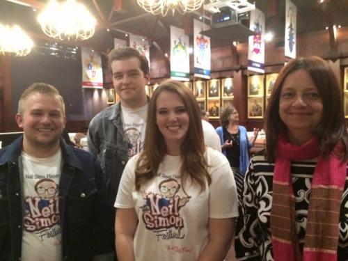 Kelly Kathleen Ferguson and the Neil SImon Players Jordan, Chris, and Emilee